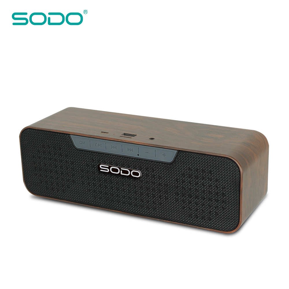 SODO Wooden 2*5W Wireless Speaker Bluetooth Private Label Custom Outdoor High Quality Mp3 Passive for Shower Golf Party