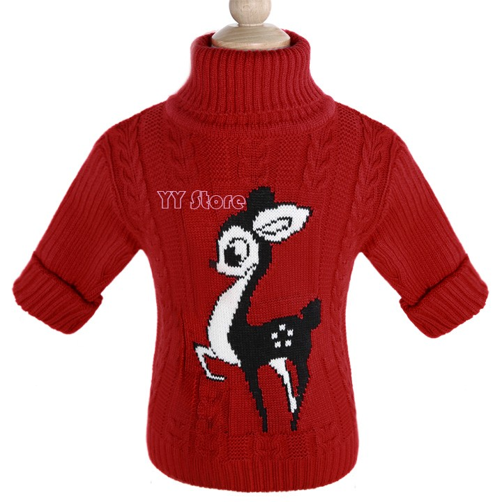 get quotations 2015 autumn warm kids turtleneck sweater baby boy girl kids red cartoon sweater