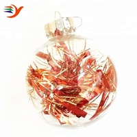 100 wholesale clear glass christmas ball ornaments with feather inside