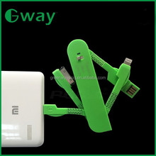 Hot selling Swiss Army Knife 3in1 USB charging Data 3.5mm male aux audio plug jack to usb 2.0 female usb cable