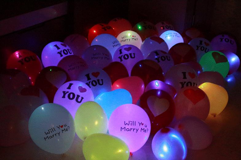 Ballonnen Met Licht : Groothandel lichtgevende ballon licht kleurrijke led ballonnen voor