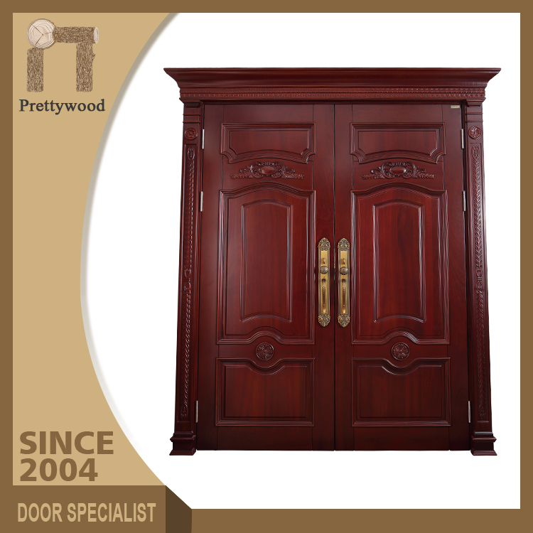 Swing Open Style Ash Solid Wood Villa Main Lobby Entrance Door