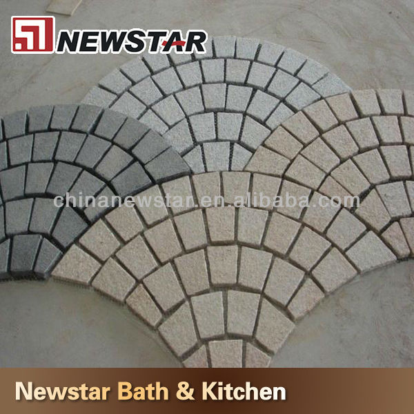 Newstar paver granite on mesh price and size