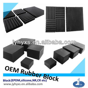 Jiangyin Huayuan supply various OEM rubber blocks(EPDM,silicone,NBR,CR,and recycled rubber)