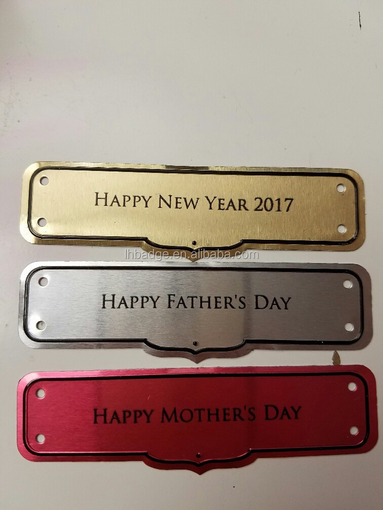 Blank aluminum plaque oxidized aluminum card aluminum for Plaque decorative adhesive alu inox metal