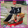 2017 new products children mini wooden toy pirate ship W03B060