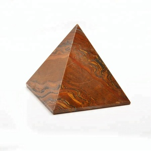 Wholesale natural red agate carved crystal pyramid for healing