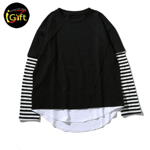 Custom made china long sleeve striped shirt classic long sleeve T-shirt