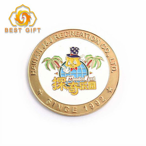Factory Direct Promotional Creative Custom Logo Metal Souvenir Coin