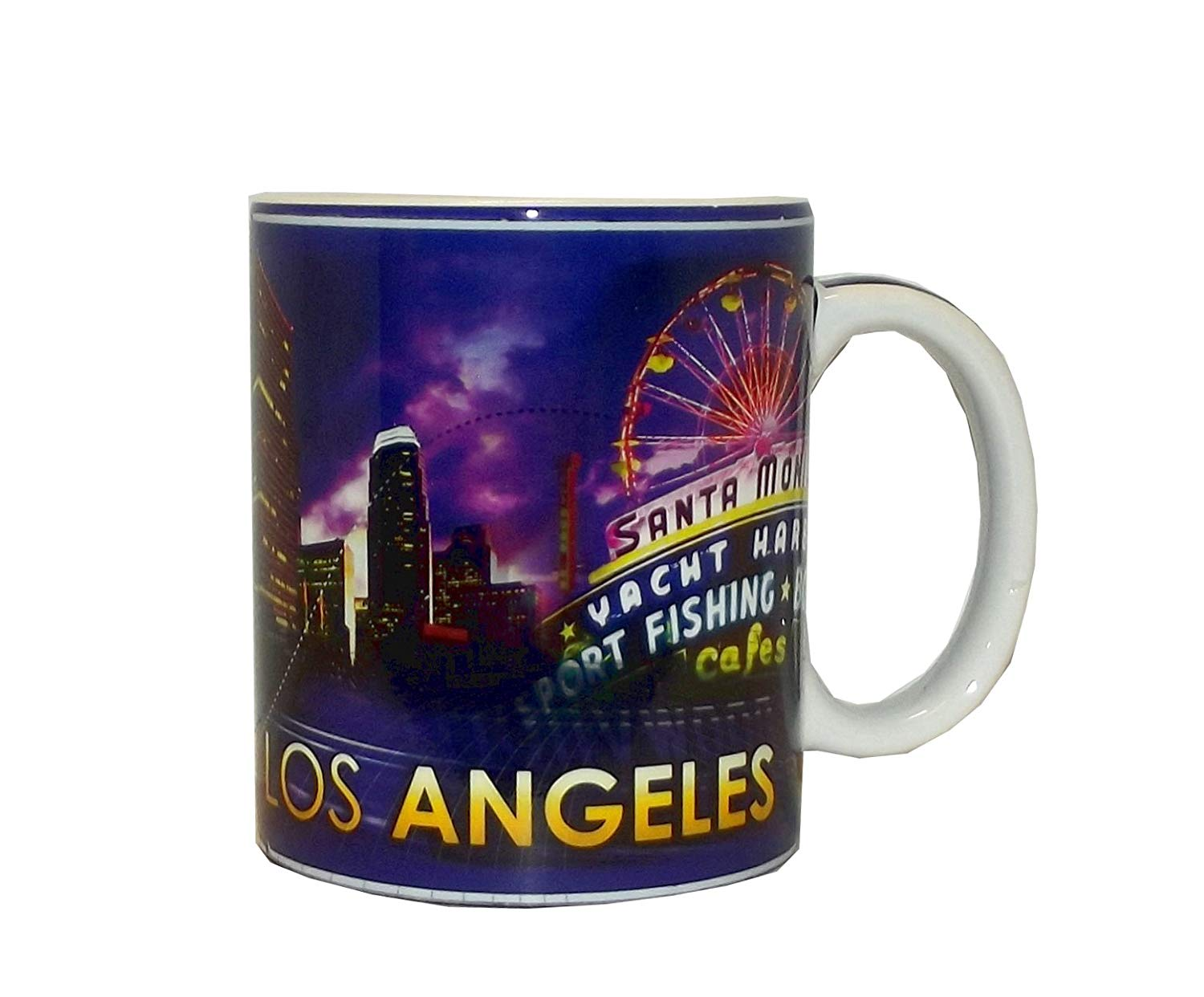 Get Quotations · Los Angeles California Souvenir Coffee Mug (Los Angeles  Cityscape) 506103606