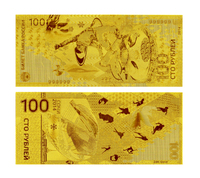 24k Gold Banknote Olympic Winter Russia 100 Rouble Money Design Collection