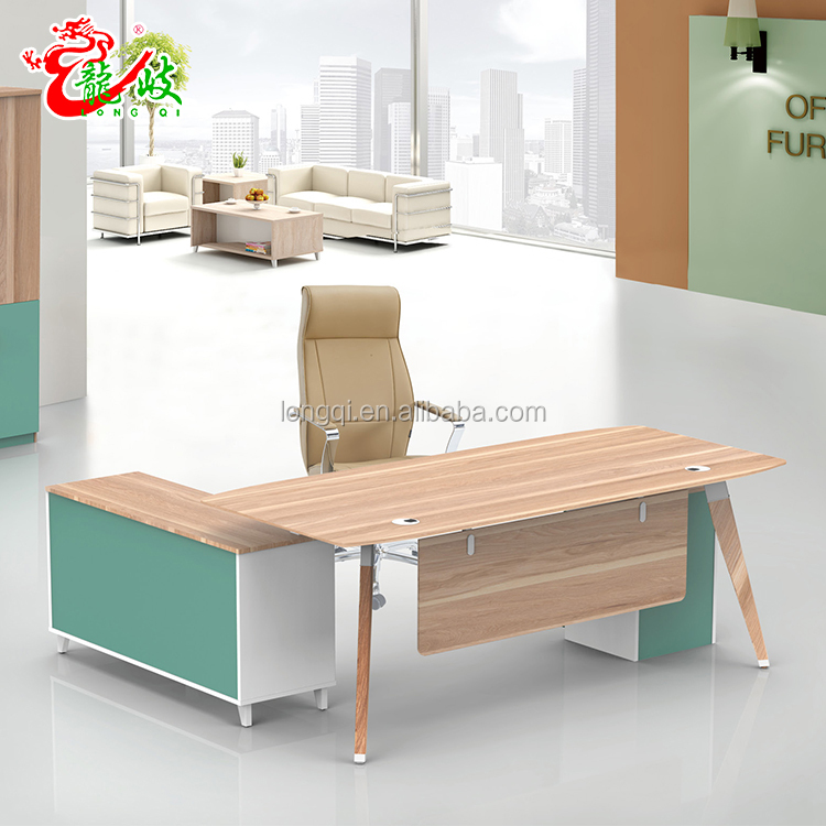 Manufacturer In China Commercial Modern Young Boss Table Office Furniture