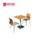 Latest stainless steel restaurant mdf dining table teak oak color dining table