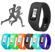 Silicon Wristband Walking Calorie distance Step Counter Waterproof Pedometer Manufacturer