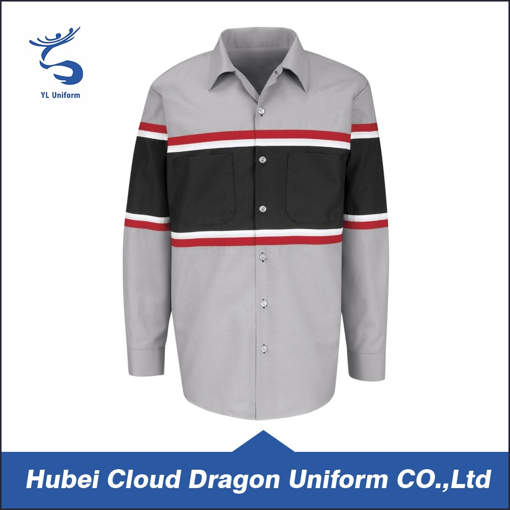 Custom Mining Industrial Work Uniform Cargo Designer Shirt For Men