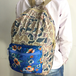 Classic Vintage Outdoor Sturdy Teenager 600D Camo Bagpack Backpack