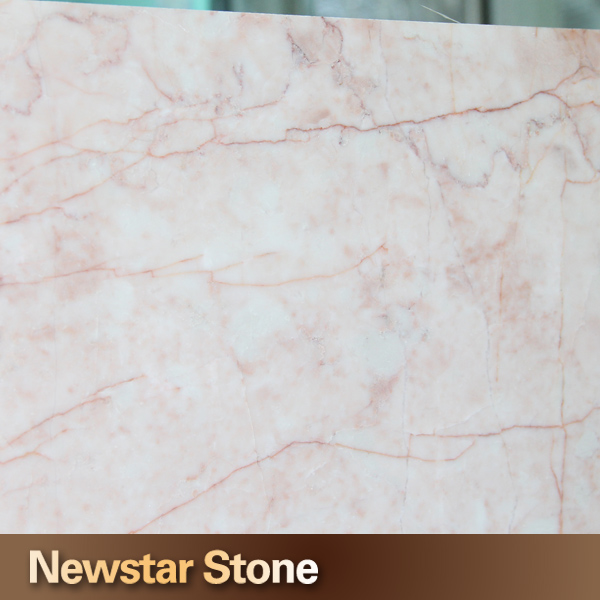 Newstar Polished Rose Beige Red Vein White Pink Marble Red
