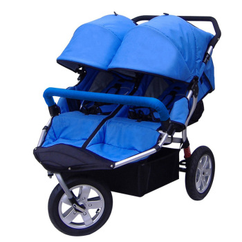 Free shipping high quality double baby stroller / twins kids pushchairs / cheap baby twin carriage with factory price