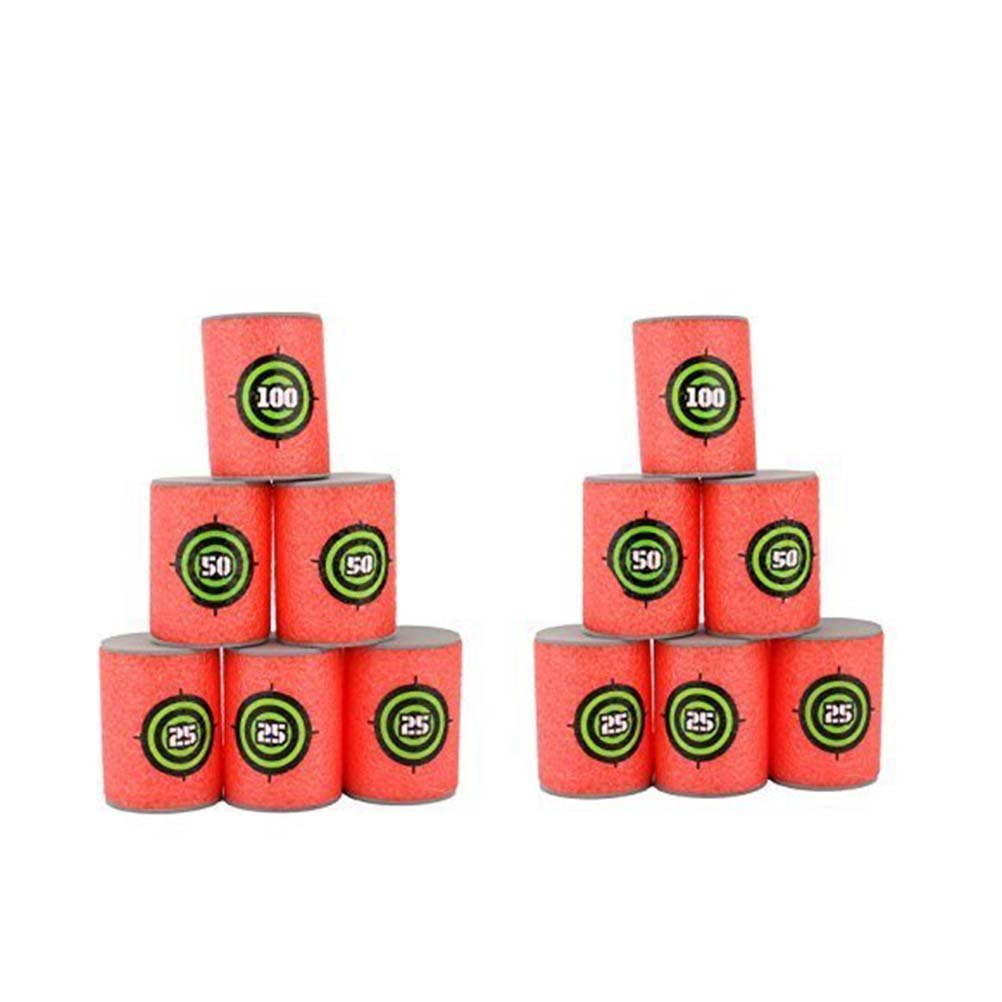 Pixnor 12Pcs Dart Foam Gun Shoot EVA Soft Bullet Target Kids Toy For NERF N-Strike Blasters