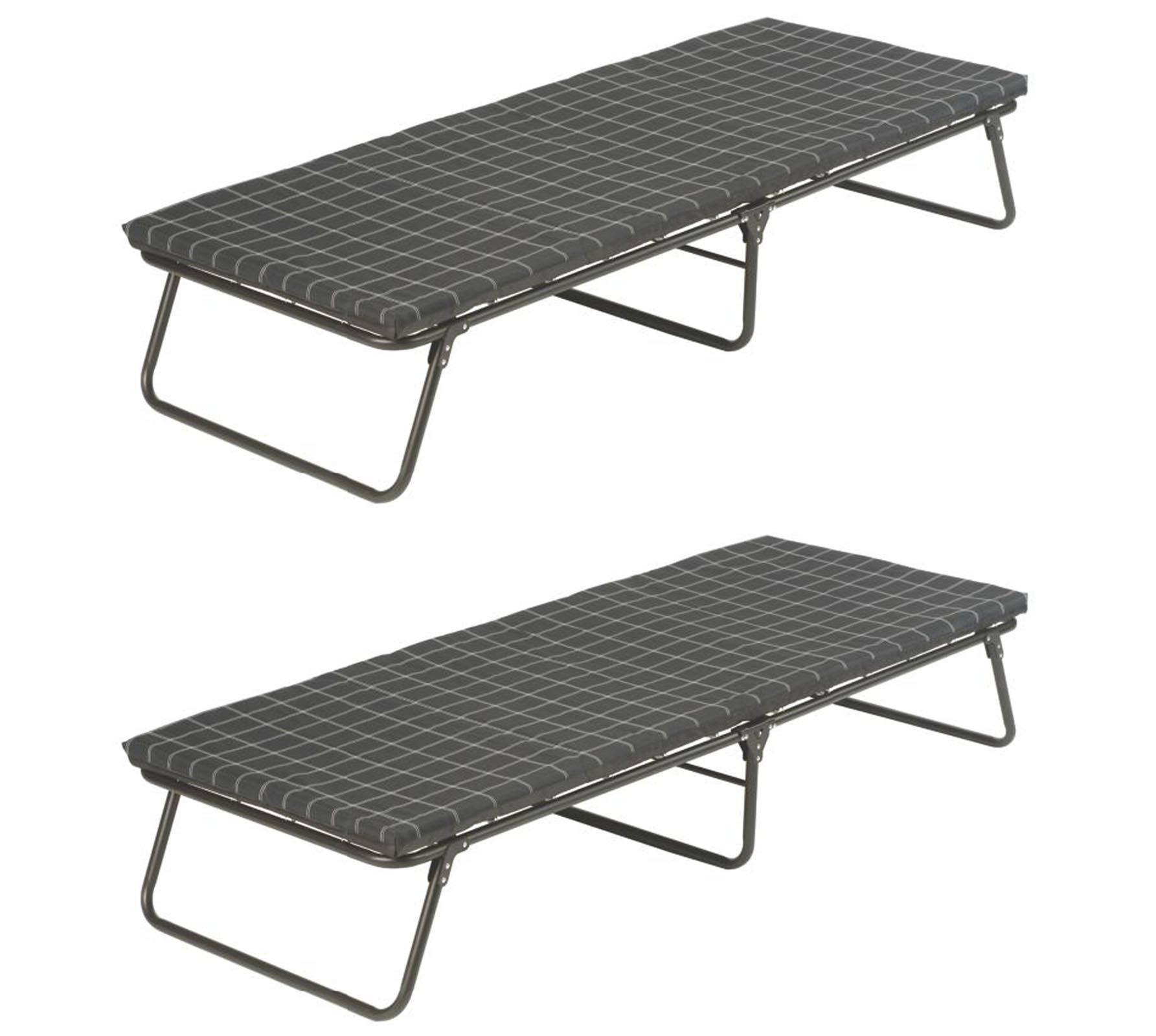 "(2) COLEMAN Portable ComfortSmart Steel Frame Deluxe Camping Cots | 30"" x 80"""