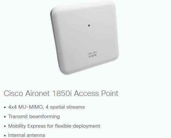 Cisco Aironet 1850 Series Gigabit Wi-fi Access Points - Buy Access  Points,Cisco,1850 Series Product on Alibaba com