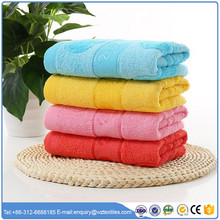China factory promotional high quality jacquard 100% cotton face towel