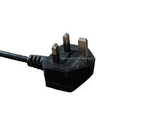 BS approval UK power cord with d09 molded structure