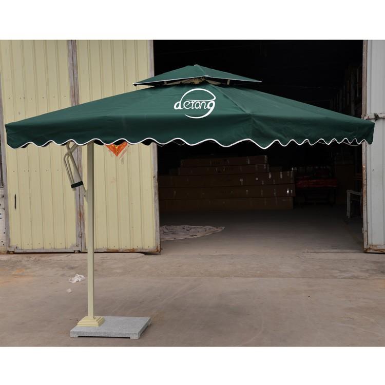 Square Side Pushed Patio Umbrella Outdoor Parasol Advertising Public Sun Umbrellas