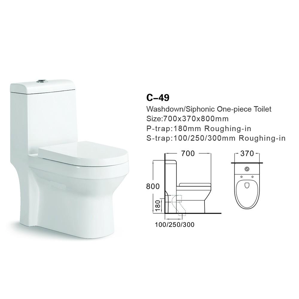 C-49 En Céramique Deux Pièces Triangle Toto Toilettes/espion ...