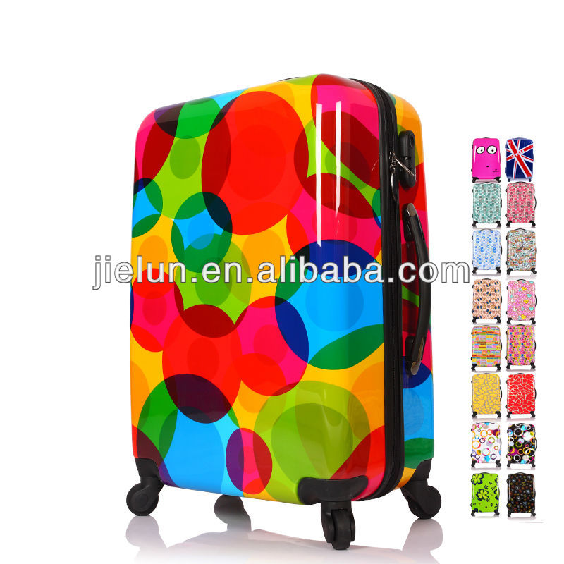 COLORFUL BIG POLKADOTS PC PRINTING LUGGAGE