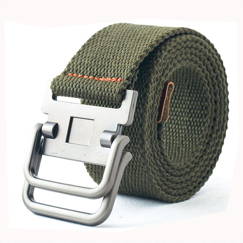 Buy Double-ring canvas belt for men Unisex summer dress mens belts New  arrival 110cm casual style Belts one size in Cheap Price on Alibaba.com