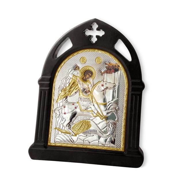 Christian saints religious icons George slaying dragon