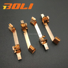 OEM customized electrical stamping parts of brass conducting strip for switch and socket