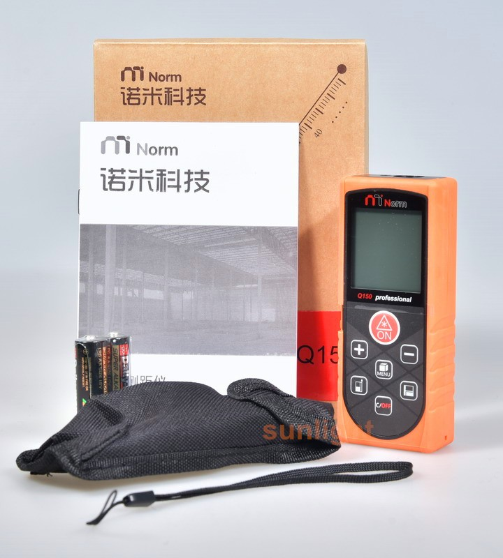 150m Hot-sale Most Economical Laser Distance Meter Rangefinder M/In/Ft Three Units with Level Bubble and Datalogger