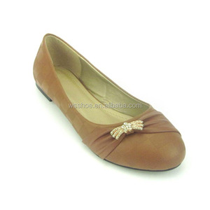 new stylish factory sale ladies elegant camel fancy flat soft women shoes