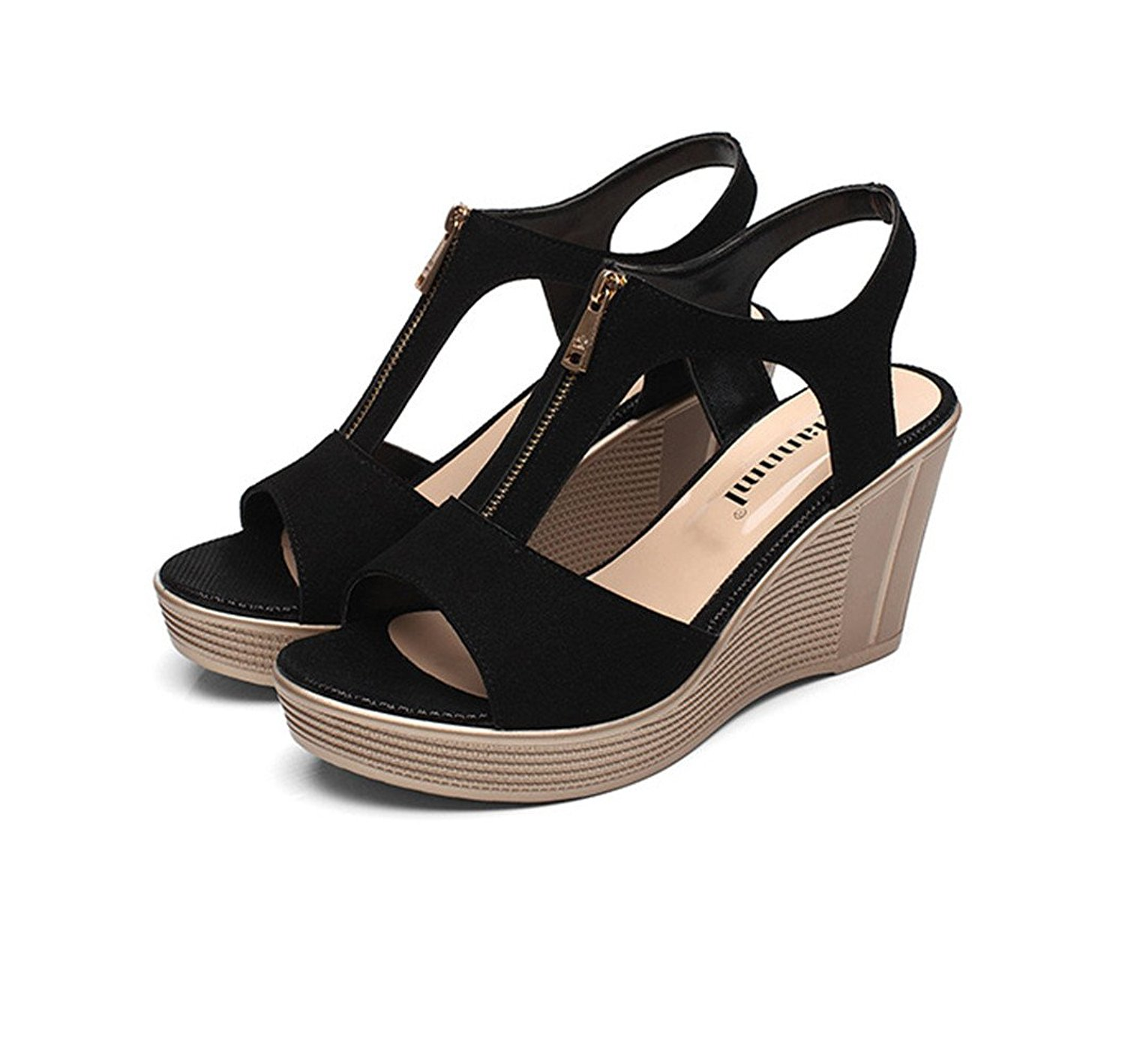 4c56ac5f5cf2 Get Quotations · INNICON Womens High Heeled Sandals Espadrille Platform  Wedges Wide Width Sandal Ankle Strap Slingback Suede Summer