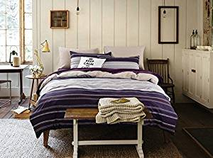 Moco Purple Bedding Danish Design Bedding Scandinavian Design Bedding Kids Bedding Teen Bedding, Twin Size
