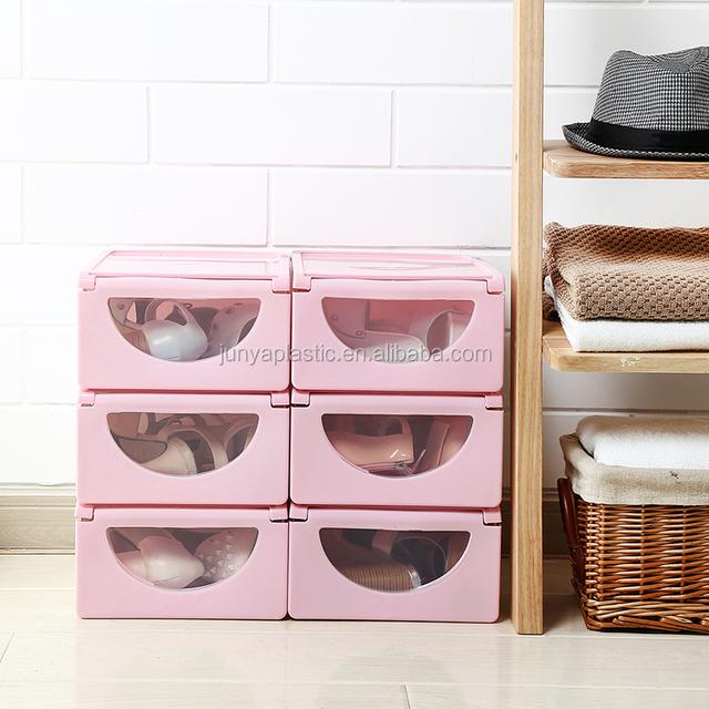 PP Visual Reusable Plastic Storage Shoe Box/ Plastic Shoe Boxes