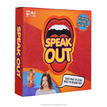 Speak out game best product hot sale speak out board game indoor cheapest in stock wholesale board game pieces