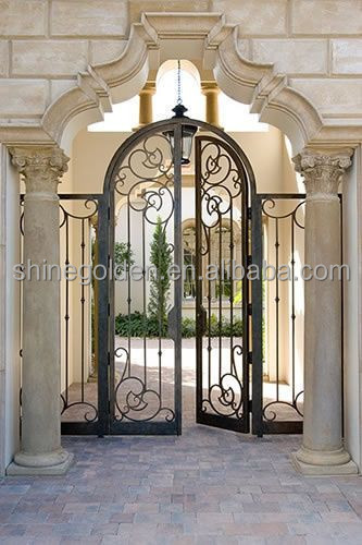 Gyd 15g0243 Wrought Iron Main Gate Vault Roof Designs Buy Steel Main Gate Design Main Entrance Gate Design Iron Front Gate Designs Product On Alibaba Com