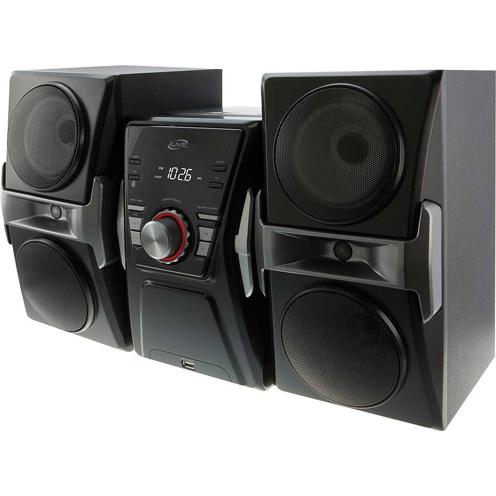 iLive Hi-Fi Mega Bass Bluetooth Stereo Music Sound System With Single Disc Cd Player, FM-Radio, Sleep timer, Remote Control