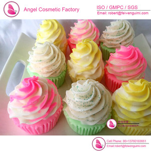 Cup cake ice cream handmade soap in cupcake shape OEM for children and women