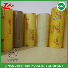 china non-toxic Transparent Plastic food wrap bale stretch soft pvc film