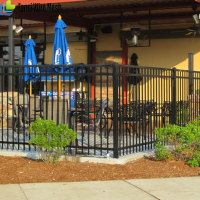 Metal welded decorative wrought iron panels