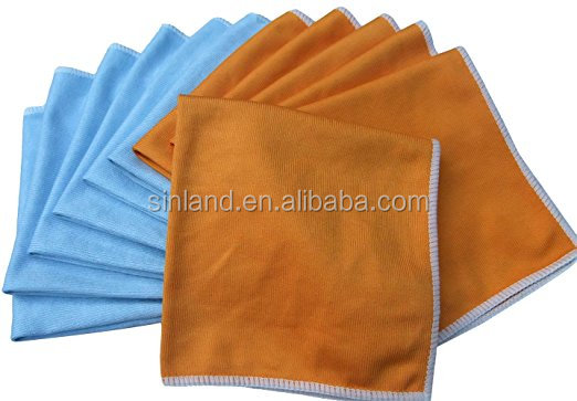 sinland microfiber cleaning towel Microfiber Cloths Microfibre Glass Cleaning Cloth