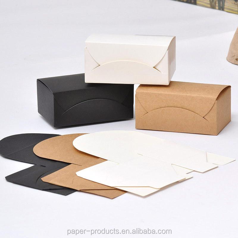 Customized White /black /brown Kraft Paper Business Card Paper Box ...