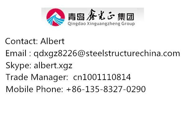 prefabricated qingdao steel structure warehouse