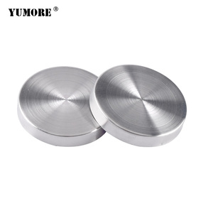 Metal advertising stainless steel precision mirror AD decorative flat head copper cover cap ball glass fastener screw cover