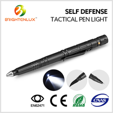 High Quality Logo Printed Aluminum Self Defense Tactical Pen Light With Knife