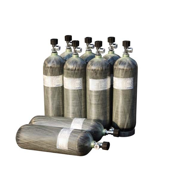 300bar Carbon fiber cylinders for breathing apparatus, gas cylinder